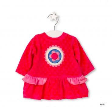 Girls Velour Dress & Tights