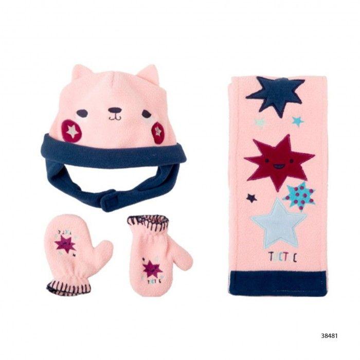 Girl Leece & Gloves Set