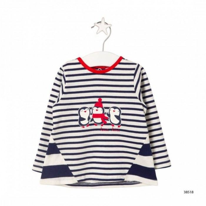 Save The Whales Striped and Printed T-shirt