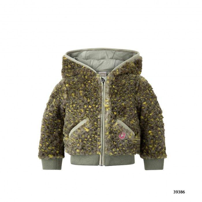 Girls Green Fur Coat