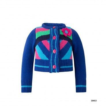 Casaco Azul Tricot Tricot Yeti & Co