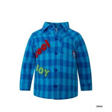 Boys Blue Flannel Shirt