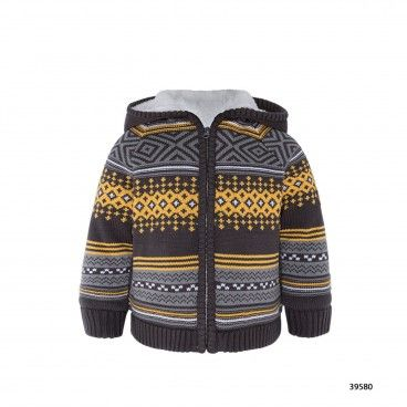 Boys Lined Knitted Jacket