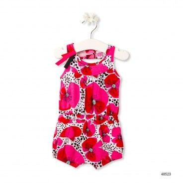 Jersey Overall Leopard & Butterfly