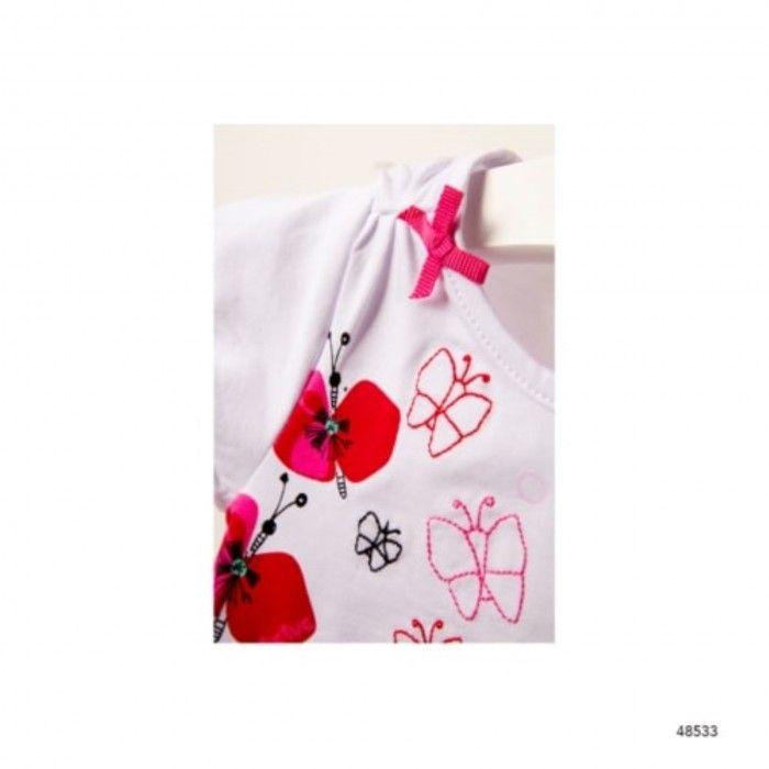 T-Shirt Leopard & Butterfly