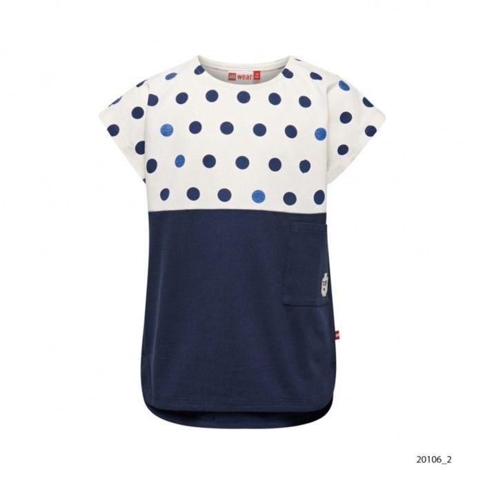 Girls Blue Cotton T-Shirt Tanya