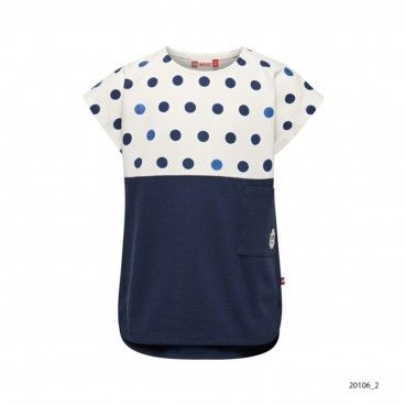 Girls Blue Cotton T-Shirt Tanya
