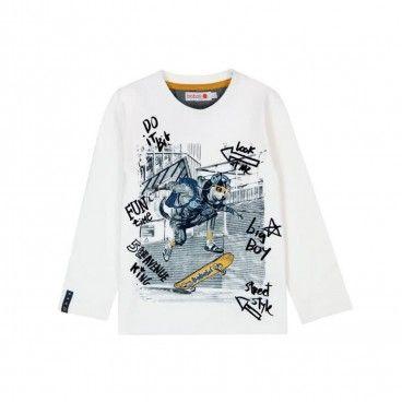 White Cotton T-Shirt Boboli
