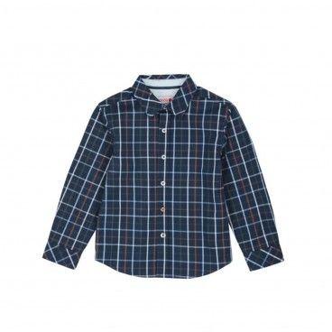 Boys Blue Poplin Shirt