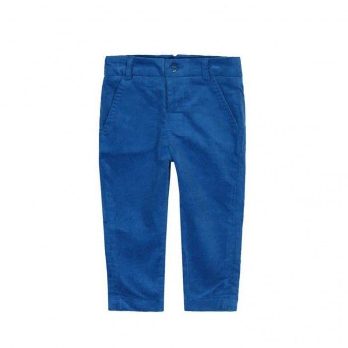Calça Azul de Veludo