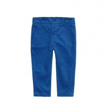 Boys Blue Velvet Trousers