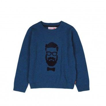 Boys Blue Cotton Sweatshirt