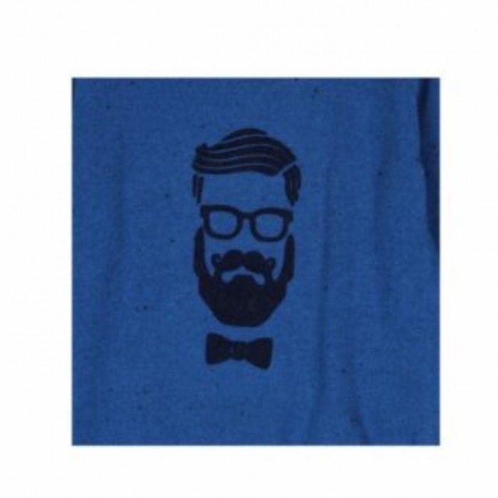 Pullover Azul com Cotoveleiras