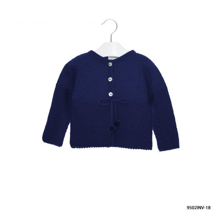 Blue Knitted Coat Baby Girl