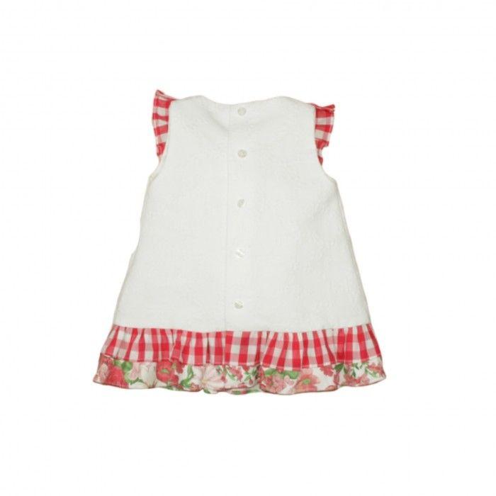 Vestido Branco & Vermelho Laredo
