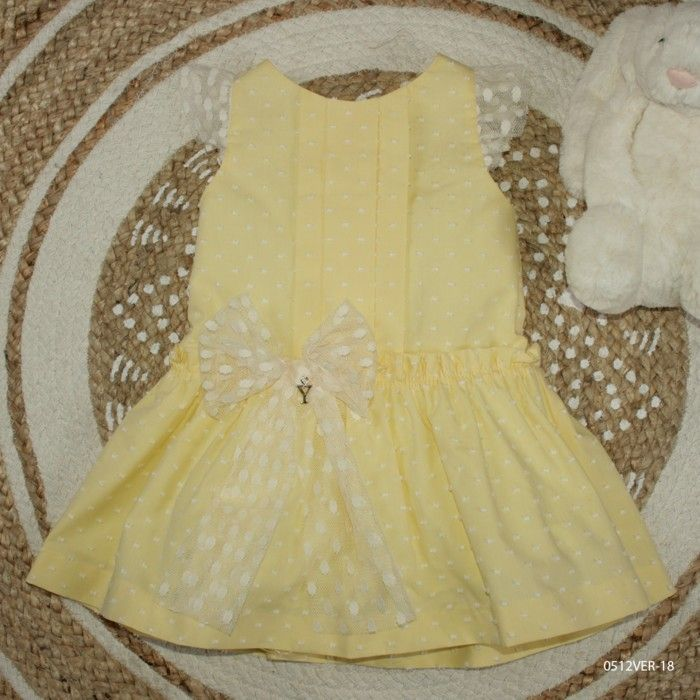 Vestido Menina Amarelo Yoedu