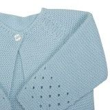 Baby 3 Piece Set - Shirt, Diaper Cover and Knit Jacket