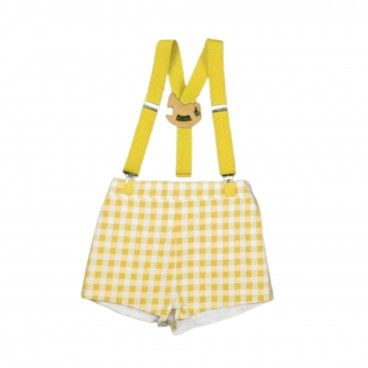 Baby Shorts Vichy with Suspenders