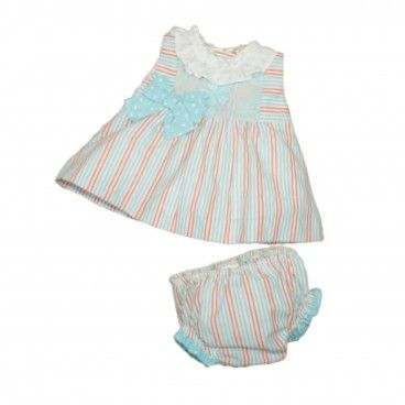Baby Turquoise Dress & Diaper Cover