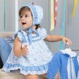 Baby Set Zarzuela  - Shirt + Diaper Cover + Bonnet