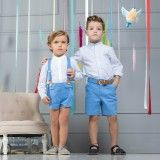 Baby Set 2 Items - Shirt and Shorts with Suspenders