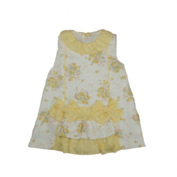 Vestido Amarelo Floral Bebé