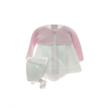 Pink Baby Girl 4 Piece Shorts Set