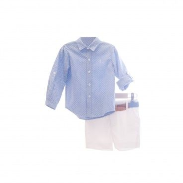 Boys Blue & White 2 Piece Set