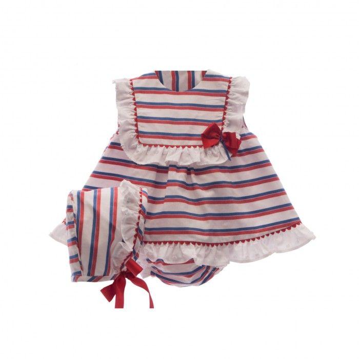 Baby Girls Blue & Red 3 Piece Set