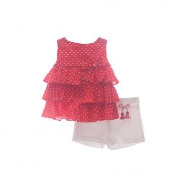 Girls Set - Blouse & Shorts