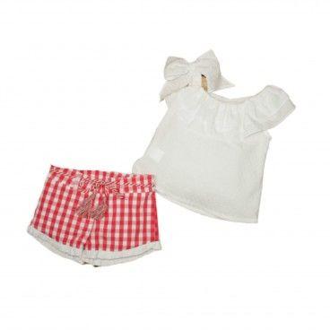 Conjunto Menina 2 Peças - Camisa e Calção