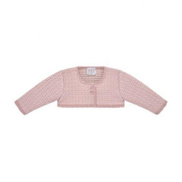 Pink Knitted Bolero Cardigan