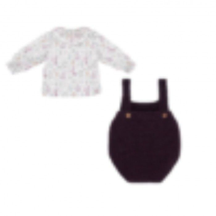 Baby Girls Shortie & Blouse Set Prairie