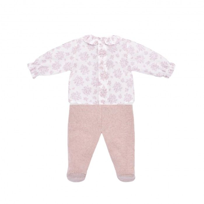 Floral Pink Trousers Set
