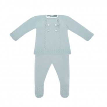 Powder Green Knitted Set