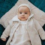 Light Brown Knit Coat Set