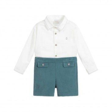 Conjunto Menino Camisa & Calção Azul Petróleo