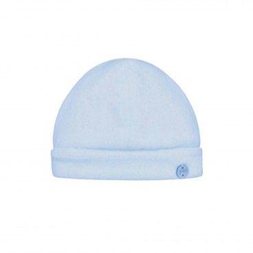 Blue Velour Baby Hat