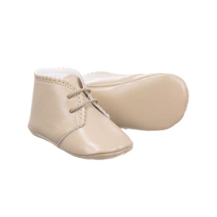 Sapato Bebé Pele Bege