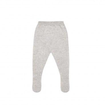 Grey Pearl Knitted Leggings