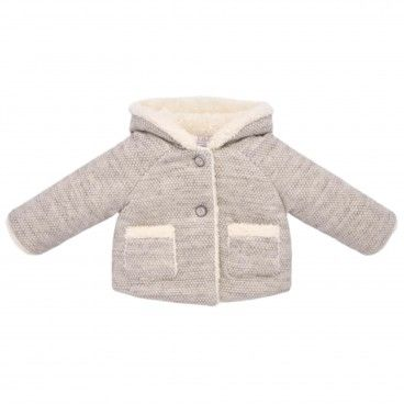 Beige Cotton Baby Pram Coat