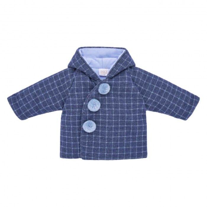 Baby Boys Blue Check Coat