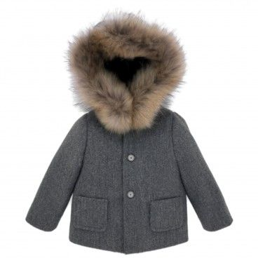 Boys Dark Grey Coat