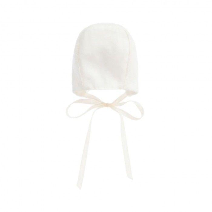 Paz Ivory Lace Baby Bonnet