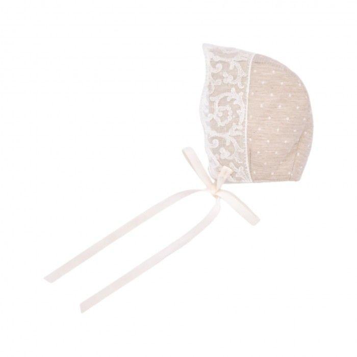 Light Brown Cotton Bonnet