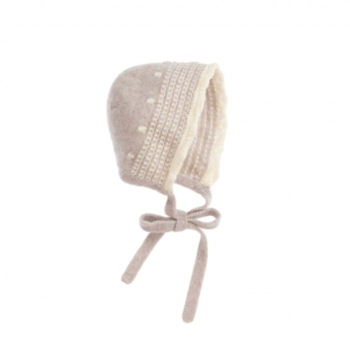 Light Brown Knitted Bonnet