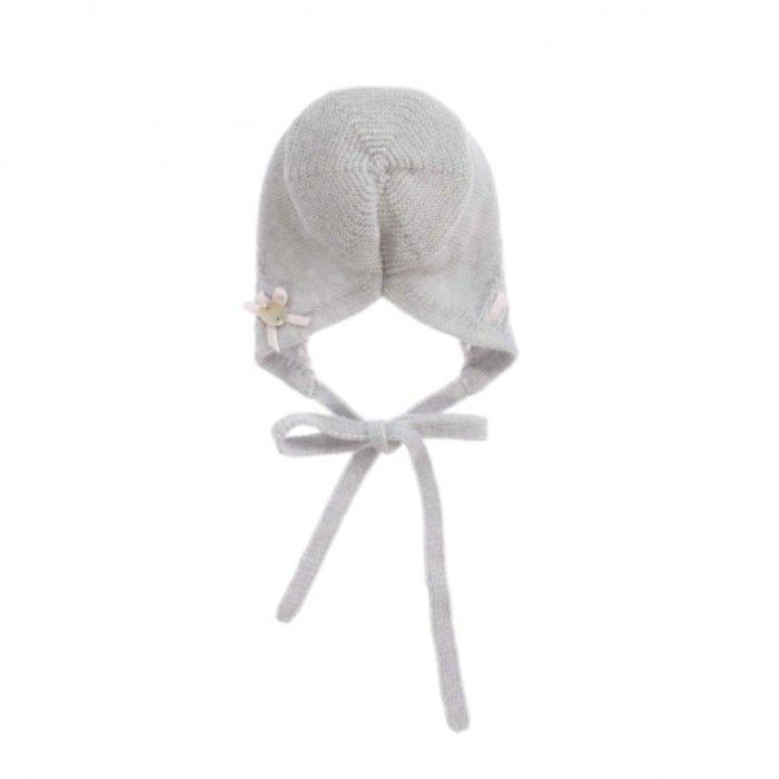 Grey & Pink Baby Bonnet