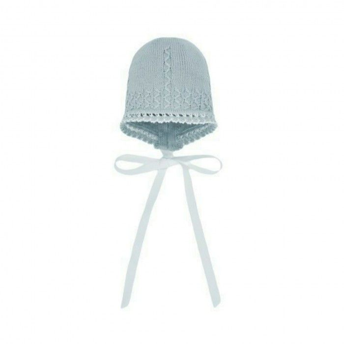 Powder Green Knitted Bonnet