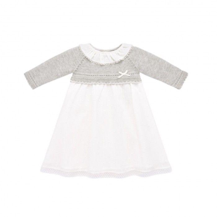 Grey Pearl & White Dress