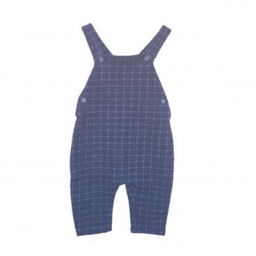 Baby Blue Check Dungarees